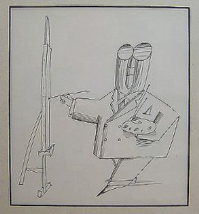 Saul Steinberg - The Commercial Artist. - Black & White Print